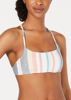 Roxy Juniors' Beach Classics Striped Bralette Bikini Top Women's Swimsuit