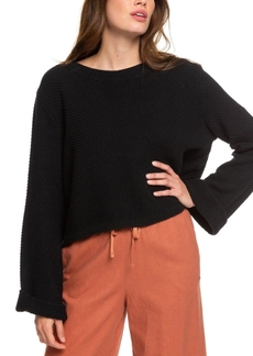 Roxy Juniors' Bell-Sleeve Sweater