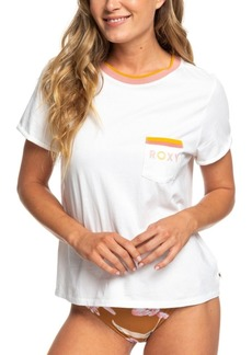 Roxy Juniors' Broken Lines Cotton T-Shirt