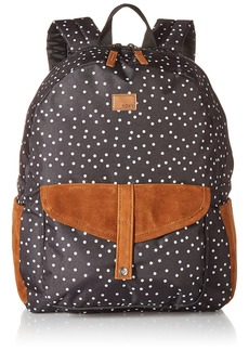 Roxy Junior's Carribean Printed Backpack true black dots for days