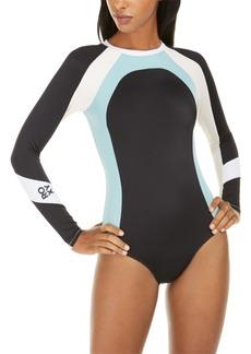 Roxy Juniors' Colorblocked Long Sleeve One-Piece Swimsuit Women's Swimsuit