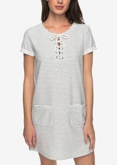 Roxy Juniors' Cotton Beyond The Ocean Lace-Up Dress