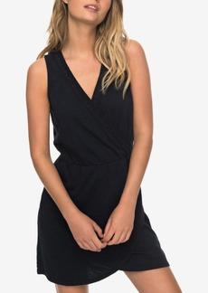 Roxy Juniors' Cotton Faux-Wrap Dress