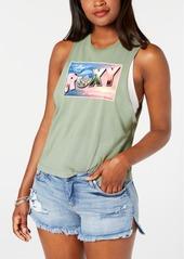 Roxy Juniors' Cotton Graphic-Print Tank Top