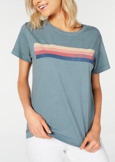 Roxy Juniors' Cotton Striped T-Shirt