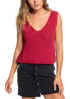Roxy Juniors' Cotton Sweater Tank Top