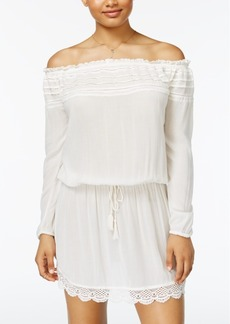 Roxy Juniors' Crochet-Trim Off-The-Shoulder Dress