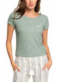 Roxy Juniors' Cropped Logo T-Shirt