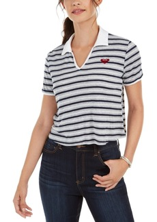 Roxy Juniors' Cropped Polo Top