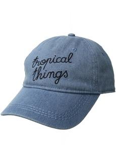 Roxy Junior's Dear Believer Baseball Hat Medium Blue wash