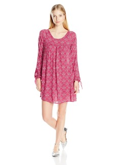 Roxy Juniors Definitely Maybe Long Sleeve Dress in The Breeze Scarlet X-Small