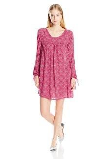 Roxy Juniors Definitely Maybe Long Sleeve Dress in the Breeze Scarlet