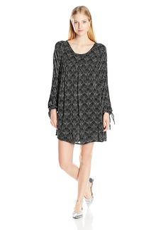 Roxy Juniors Definitely Maybe Long Sleeve Dress in the Breeze True Black