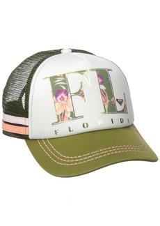 Roxy Juniors Dig This Castaway Florida Trucker Hat
