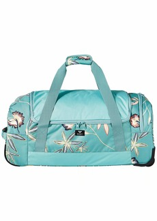 Roxy Junior's Distance Across Wheelie Duffle Bag trellis bird flower