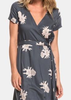 Roxy Juniors' District Day Floral-Print Wrap Dress