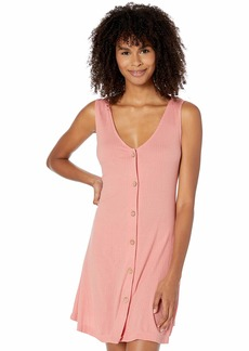Roxy Junior's Dream Do Button Front Ribbed Dress  M