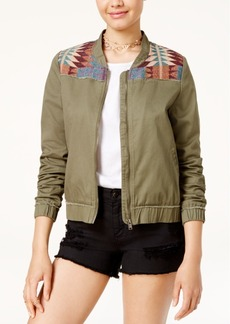 Roxy Juniors' Embroidered Bomber Jacket