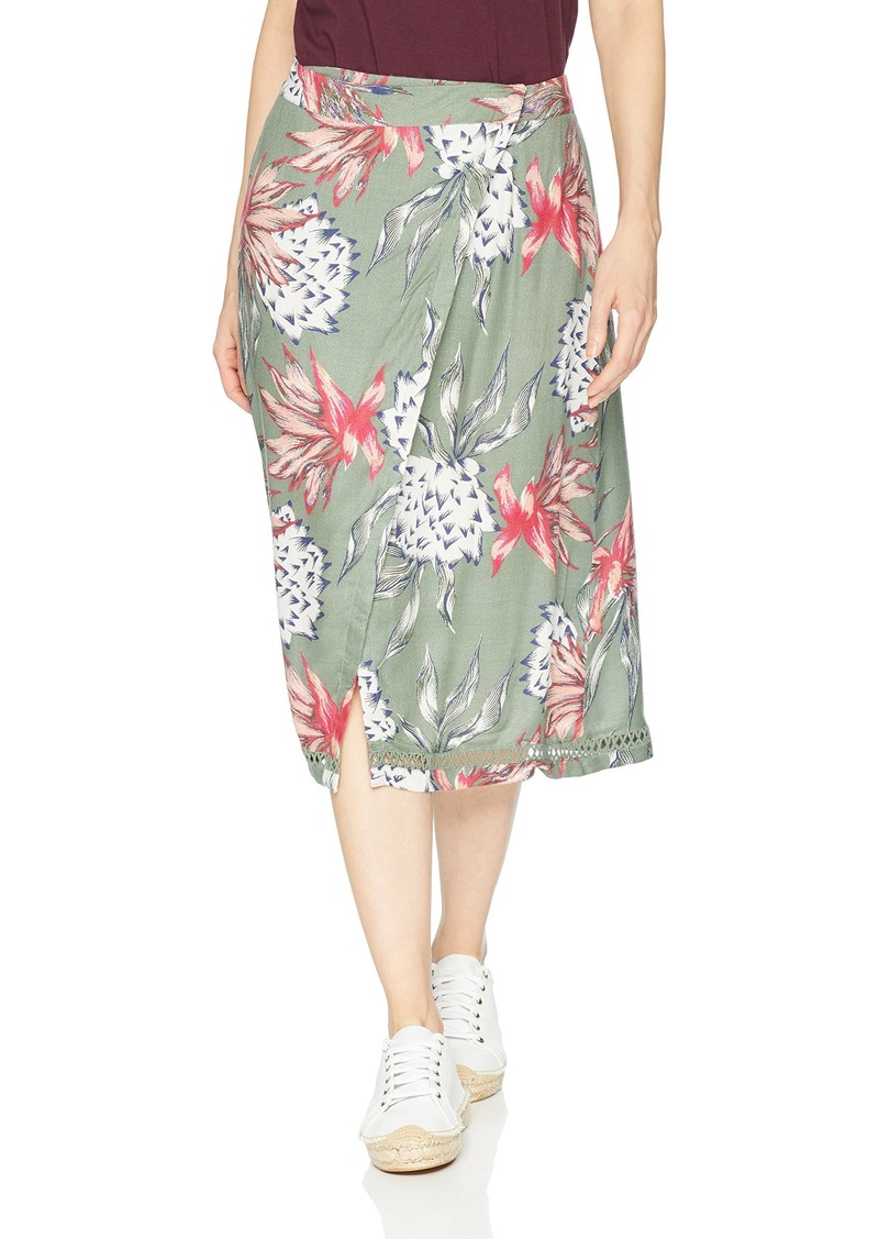Roxy Womens Lost Green Canyon Midi Party Skirt