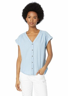 Roxy Junior's Feel The Bronx Chambray Button Up Top  XS