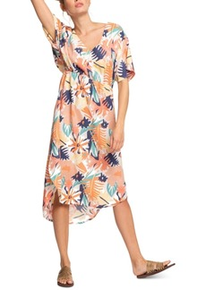 Roxy Juniors' Flamingo Shades Printed High-Low Dress