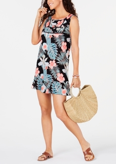 Roxy Juniors' Floral-Print Cover-Up Women's Swimsuit