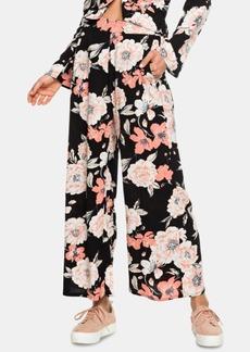 Roxy Juniors' Floral Print Wrap Front Pants