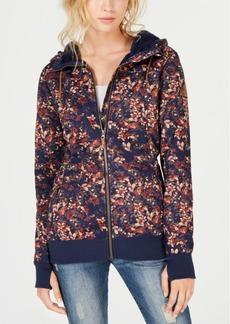 Roxy Juniors' Frost Printed Zip-Up Hoodie Jacket