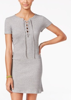 Roxy Juniors' Go Your Way Lace-Up T-Shirt Dress