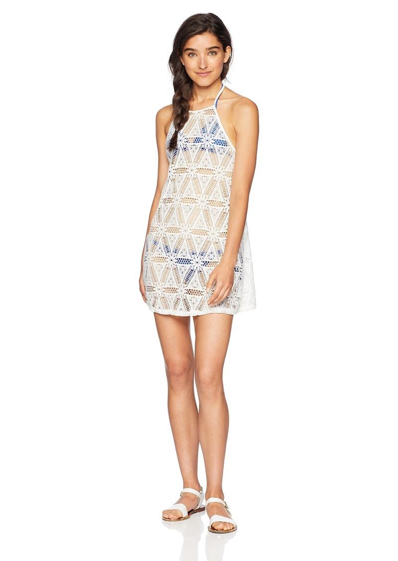 Roxy Junior's Goldy Sandy Crochet Coverup Dress  L