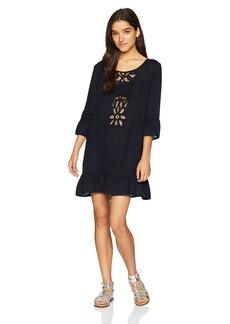 Roxy Junior's Goldy Soul Long Sleeve Coverup Dress  S