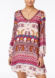 Roxy Juniors' Havana Printed Crochet-Trim Dress