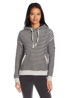 Roxy Junior's Shoal Hoodie Stripe Crew Neck Fleece Top  S