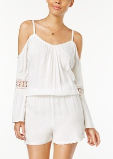 Roxy Juniors' Island Joy Cold-Shoulder Romper