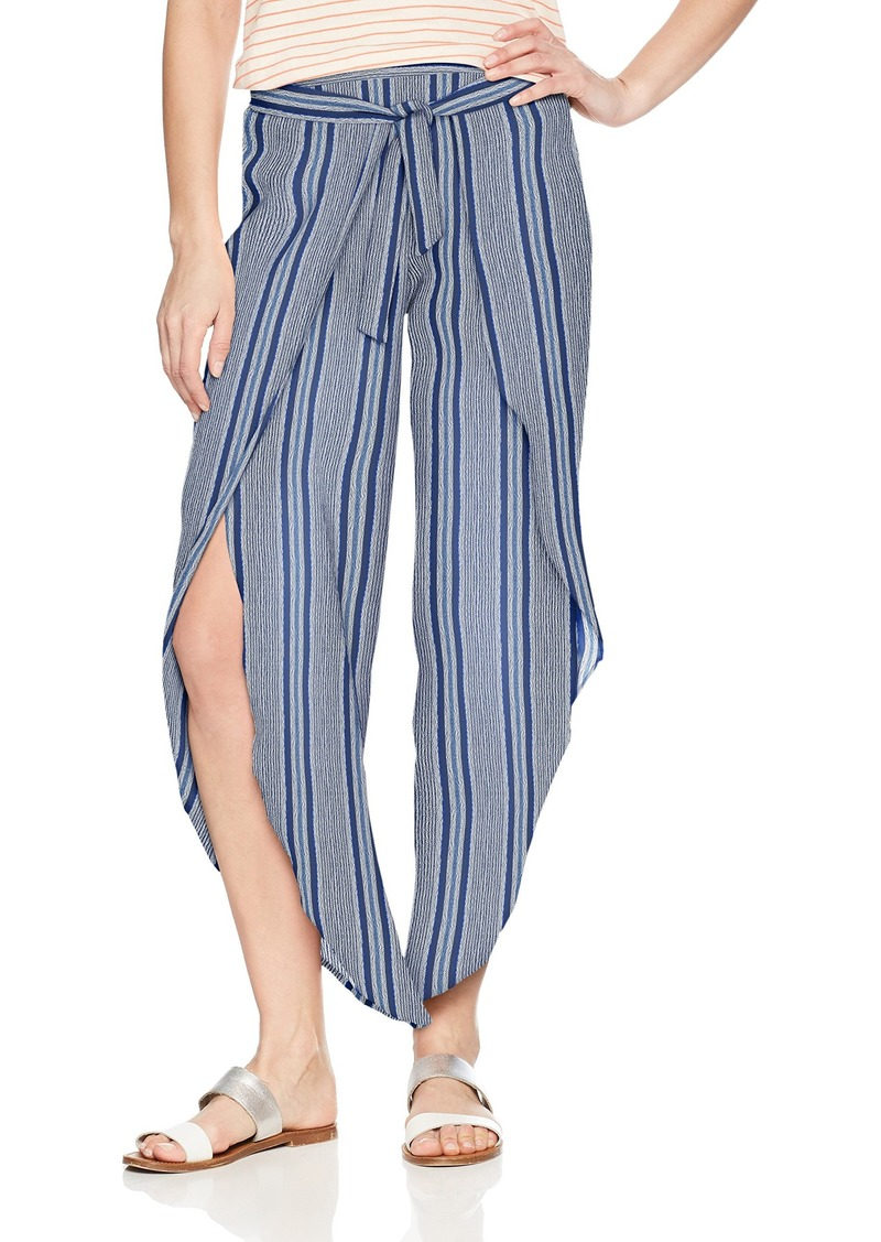 Roxy Junior's Jessa Beach Pant deep Cobalt Cherokee Stripe L