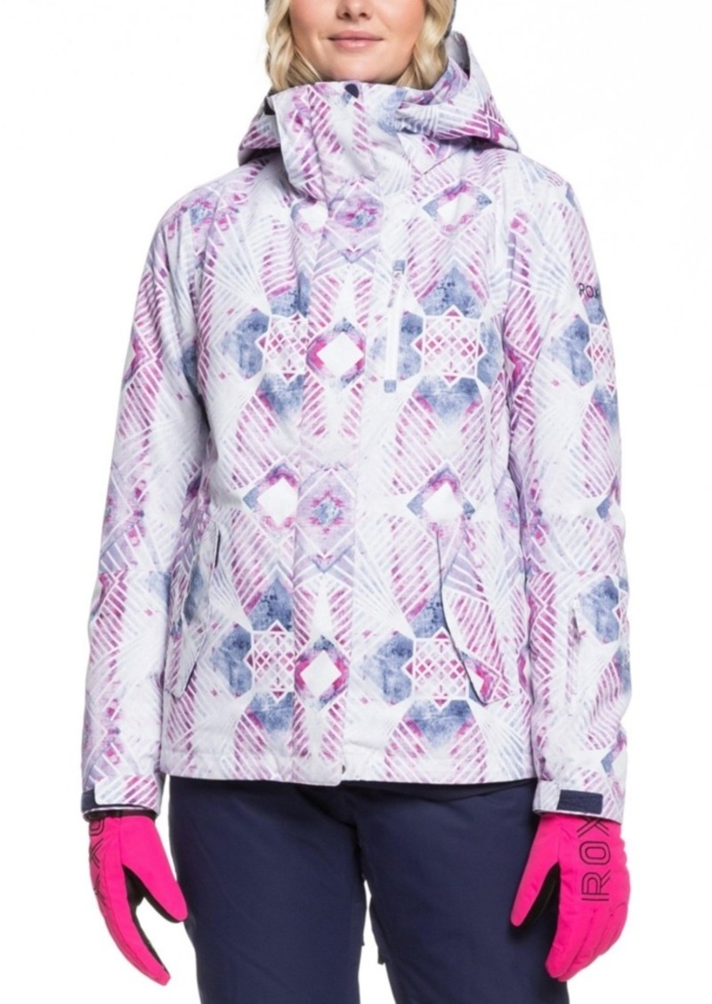 Roxy Juniors' Jetty Printed Hooded Snowboard Jacket