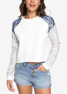 Roxy Juniors' Just By Chance Americana Cropped Sweatshirt