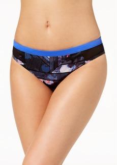 Roxy Juniors' Keep it Scooter Printed Mesh-Side Bikini Bottoms Women's Swimsuit