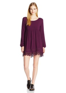 Roxy Junior's Lace Traveler Long Sleeve Dress  L