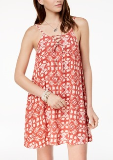 Roxy Juniors' Lace-Up A-Line Dress