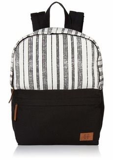 Roxy Junior's Light The Stars Canvas Backpack anthracite Beach Stripes