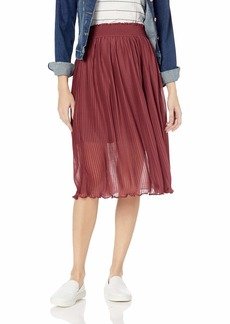 Roxy Junior's Lost Green Canyon Midi Party Skirt Oxblood red L