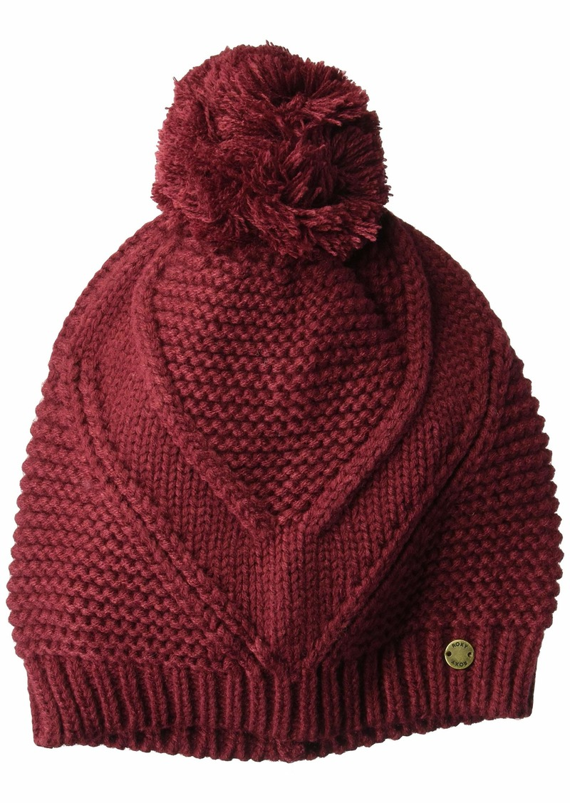 Roxy Junior's Lovers Soul Beanie Hat Oxblood red