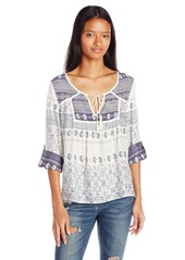 Roxy Juniors Lucky Blue Printed Shirt