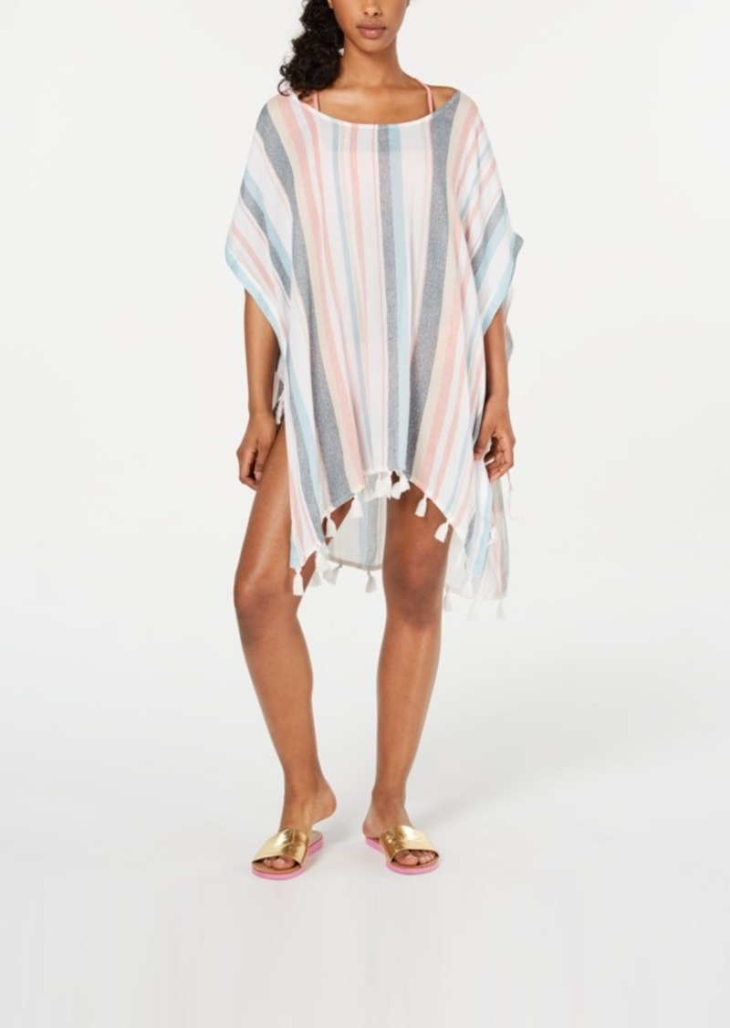 Roxy Juniors' Make Your Soul Striped Poncho Cover-Up Women's Swimsuit