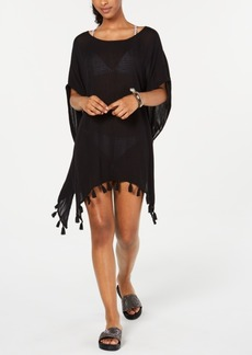 Roxy Juniors' Make Your Soul Tasseled Poncho Cover-Up Women's Swimsuit