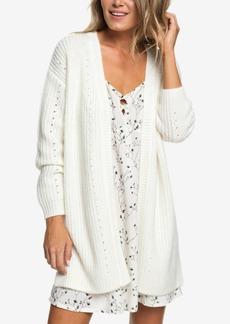 Roxy Juniors' Mixed-Knit Cardigan Sweater