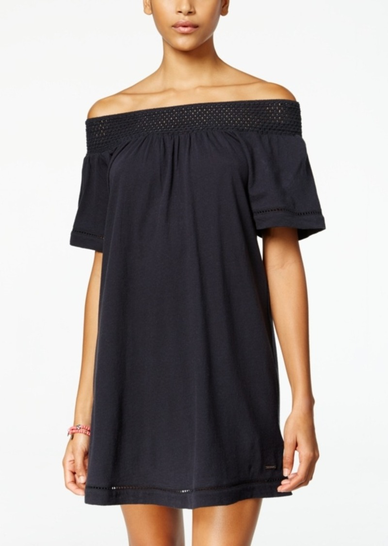 Roxy Juniors' Moonlight Shadow Off-The-Shoulder Shift Dress