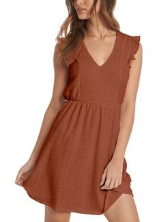 Roxy Juniors' Morning Breeze Ruffle-Sleeve Dress