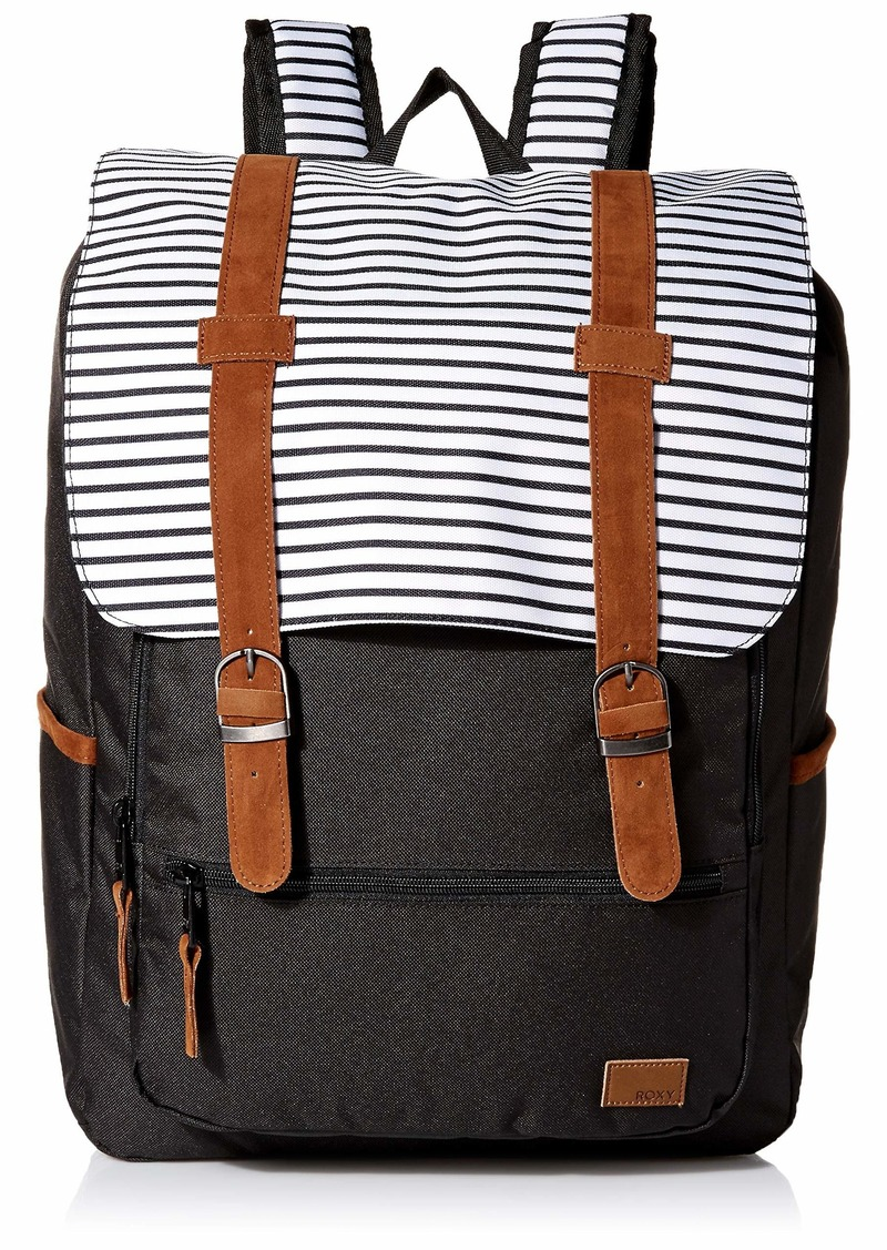 Roxy Women's Ocean Vibes Backpack anthracite marina stripes